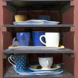 Cafeteria tray shelf — Stock Photo