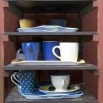 Cafeteria tray shelf — Stock Photo