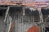 Ahşap ev yıkıldı — Stok fotoğraf