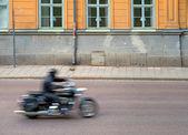 Brurred motorcycle — Zdjęcie stockowe