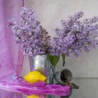 Still life with lilac — Stock Photo