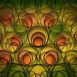 Green yellow and orange abstract background — Stock Photo
