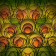 Green yellow and orange abstract background - Stock Photo