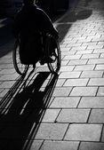 Mann in wheelchair — Stock Photo