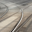 tram tracks — Stock Photo