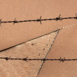 Rusty barbed wire - Zdjcie stockowe