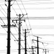 Electricity poles — Stock Photo