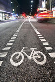 Símbolo de bicicleta — Fotografia Stock