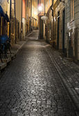 Old town of Stockholm at night — Stock Photo