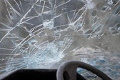Smashed windshield — Stock Photo