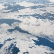 Stock Photo: Sea with ice from above
