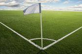 Corner flag on soccer field — Zdjęcie stockowe