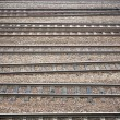 Many railroad tracks — Stock Photo