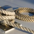 Royalty-Free Stock Photo: Rope on a boat deck