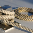Rope on a boat deck — Stock Photo