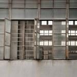 Open windows on facrtory — Stock Photo
