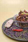 Sichuan wok beef — Stock Photo