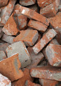 Heap of bricks — Stock Photo