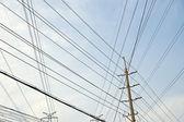 Linie energetyczne — Zdjęcie stockowe