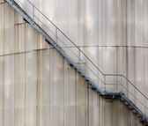 Stairs on oil silo — Stock Photo