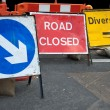 Stock Photo: Closed road sign