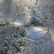 Shattered glas — Stock Photo