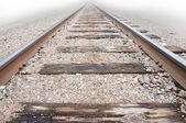 Low angle view of railway track — Stock Photo