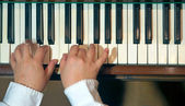 Hands of a pianist — Stock Photo