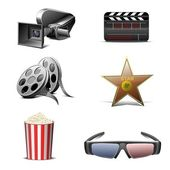 Cinematography vector icon — Stock Vector