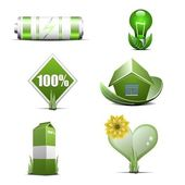 Green energy and ecology — Stockvektor