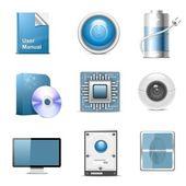 Hardware onderdelen — Stockvector