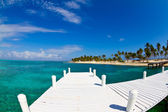 White jetty tropical island — Stock Photo