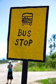 Bus stop in Belize — Stock Photo