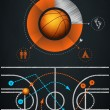 Infographics element with sports basketball Ball — Stock Vector #7169227