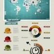 Royalty-Free Stock Vector Image: Set elements of infographics. World Map and Information Graphics
