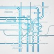 Abstract infographics subway transportation plan — Stockvectorbeeld