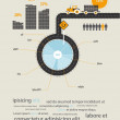 Infographics circuit supplies load on the tractor — Image vectorielle
