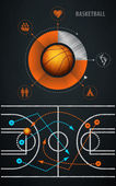 Infographics element with sports basketball Ball — Stock Vector
