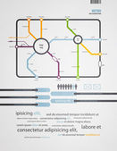 Infographics subway in the old style — Stock Vector