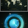 Infographics elements of the world map, and sonar - Stock Vector