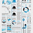 Elements of infographics with a map of America - 图库矢量图片