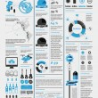 Elements of infographics with a map of America - Векторная иллюстрация
