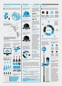 Elementen van infographics met een kaart van amerika — Stockvector