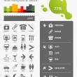 Elements of Infographics with navigation in the hotel — Imagen vectorial