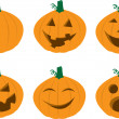 Pumpkin Faces — Stockvektor