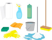Cleaning Supplies — Stock Vector