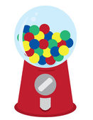 Gumball Machine — Stock Vector