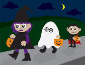 Trick or Treating — Stock Vector