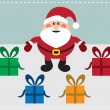 Santa With Presents - Stock Vector