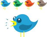 Chirping Birds — Stock Vector